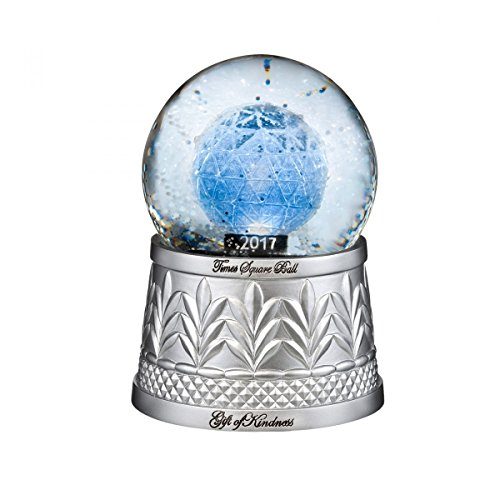 2017 Waterford Times Square Gift of Kindness Glass Christmas Snowglobe 40021164
