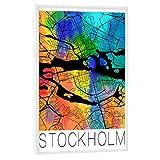 artboxONE Poster mit weißem Rahmen 45x30 cm Städte Retro