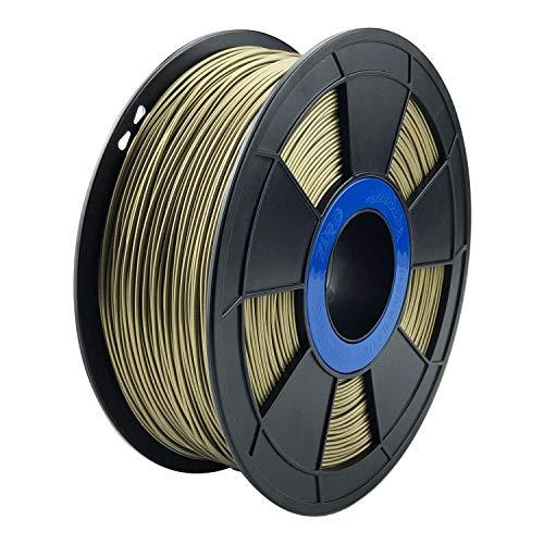 ZIRO 3D Printer Filament PLA PRO Metal Series 1.75 1KG(2.2lbs), Dimensional Accuracy +/- 0.05mm,Bronze