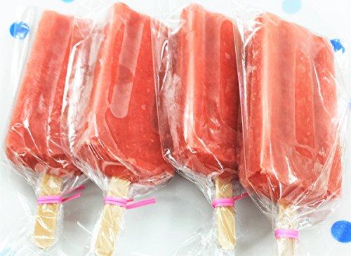果物屋さんのフルーツアイスキャンディー (いちご)  苺すりつぶし、濃厚なアイスキャンディー 10本入り/箱 圧倒的な果汁量が自慢!【送料、消費税込み】