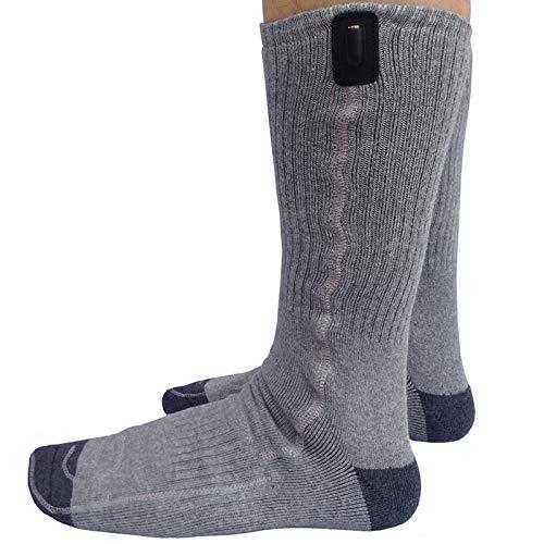 DZX Chaussettes Chauffantes électriques/Chaussettes Chauffantes USB - pour Les Sports De Plein Air en Hiver Camping Randonnée Travail Et Ski Unisexe