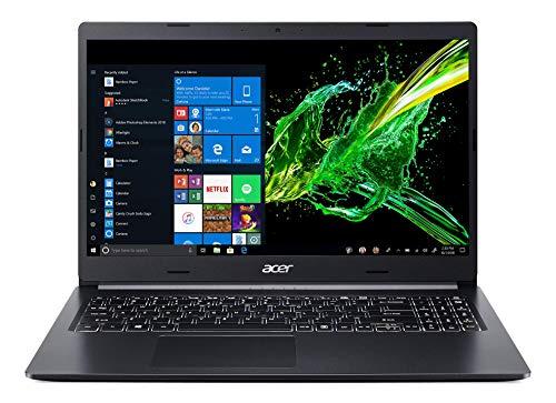 Acer Aspire 5 A515-55-5892 Ordinateur Portable 15,6 FHD, PC Portable (Intel Core I5-1035G1, RAM 8 Go, 512 Go SSD, Intel UHD Graphics, Windows 10) - Clavier AZERTY (Français), Laptop Noir