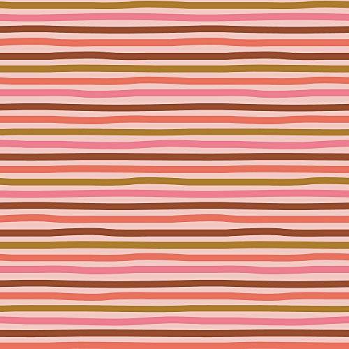 Schickliesel Organic Jersey Stoff Meterware Regenbogenstreifen (rosa)