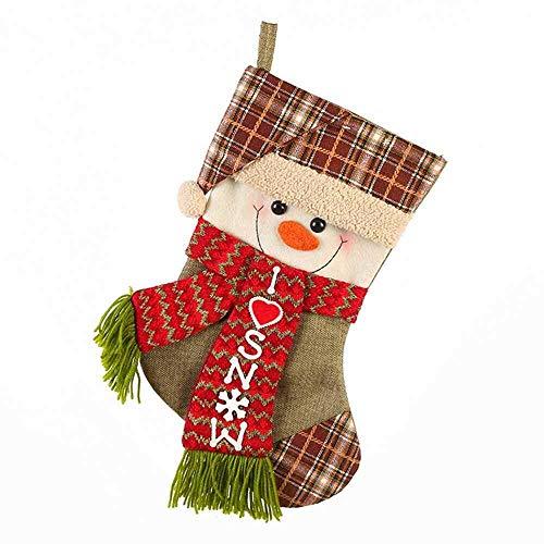 Personalisierte Luxus Weihnachtsstrumpf Stiefel Hanging Geschenk-Beutel, Christbaumschmuck, Weihnachts Gestrickte Wollsocken Geschenk-Paket Süßigkeit Keks Choclate Furit Beutel for Kinder Jungen Mädch