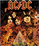 INTIMO AC/DC Highway to Hell Blanket Music Album Cover Soft and Cuddly Plush Fleece Throw Blanket 48' x 60' (122cm x152cm)