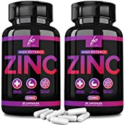 Zinc 50mg Oxide Supplements Formulated for Immunity, Zinc Vitamin Citrate Supplement for Adults Kids - Chewable Tablets, Liquid (2 Month Supply)