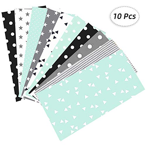 Junejour 10PCS Cotton Fabric 19.7x19.7 Inches Flower Cloth Quilting Patchwork for Household Manual DIY Sewing Quilting Crafts Handmade (Multi C)