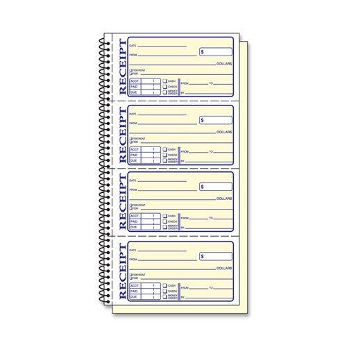 TOP4161 - Cuaderno espiral para recibos de dinero y alquiler