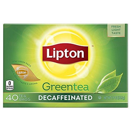 Lipton Green Tea Bags, Decaffeinated, (40 ct/pack) (pack of 6)