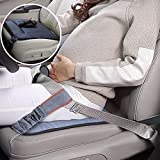 Abnaok Maternity Car Belt Adjuster Cushion, Comfort & Safety for Pregnant Moms Belly, Protect Unborn Baby, for Expectant Mothers (Black)