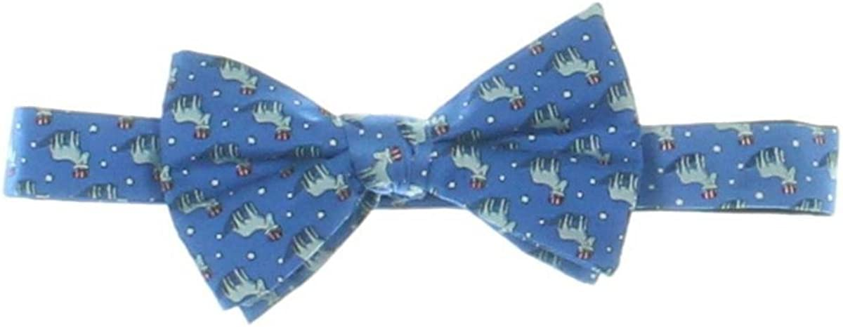 Countess Mara Mens Americana Donkey Silk Patriotic Bow Tie Blue