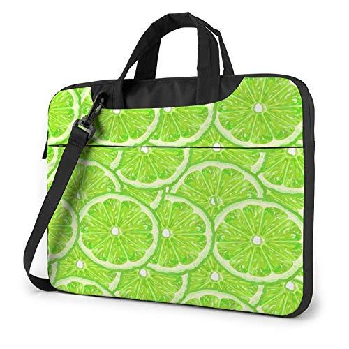Laptop Messenger Green Lime Lemon Sunmmer Shoulder Bag Briefcase Office Laptop Sleeve Case Luggage for Men Women 14 Inch