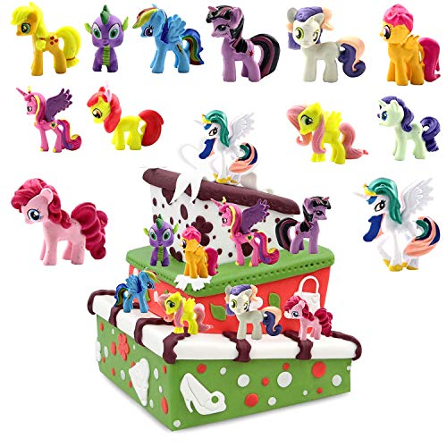 WELLXUNK® Decoración de Juguetes para Tartas 12 piezas Adorno para Tartas Fiesta de Unicornio Decoración de Tartas de Unicornio Decoración de Tartas de Unicornio Decoraciones de Cumpleaños