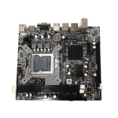 unknows Placa Base De Escritorio para Intel- H81 1150 2DDR3 1600/1333 / 1066Mhz Memoria con HDMI USB 3.0 Soporte VGA + HDMI Salida Dual