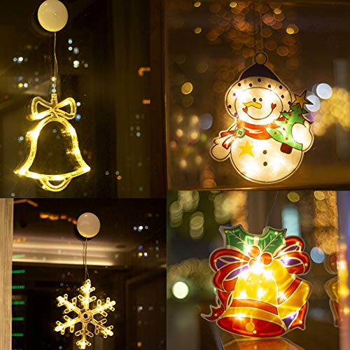 VWMYQ Luces de Navidad Luz de árbol de Navidad LED con Ventosa...