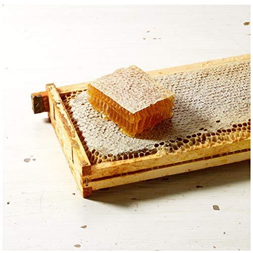 Panal de abeja cruda, panal natural puro, peine de miel cruda, miel cruda, panal de flores silvestres, sin procesar, miel sin filtrar, 800 g