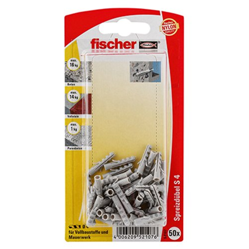 Fischer 52107 Lot de 50 Chevilles S 4 GK