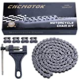 CNCMOTOK 420 Motorcycle Chain+ Chain Breaker,420 Standard Roller Chain 132 Link for 110cc 125cc Dirt Pit Bike ATV Quad Go Kart Scooter Mini Bike