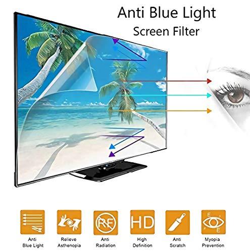 """WLWLEO Protector de Pantalla de TV antideslumbrante de 55 Pulgadas, Filtro de Pantalla Anti luz Azul, protección para los Ojos Película Protectora para Pantalla sin Borde de 50-70"""",50"""" 1101 * 620mm"""