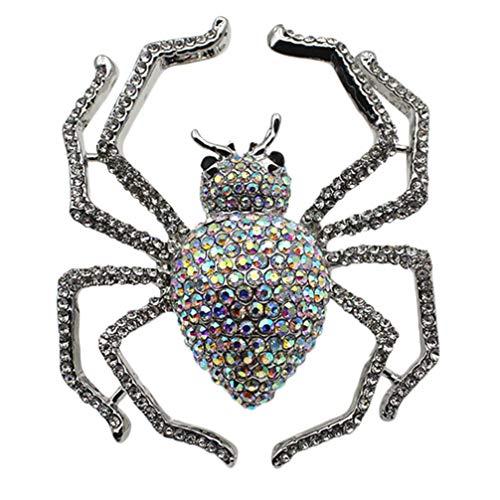 TOYANDONA Anillo de Araña de Diamantes de Imitación Anillo de Araña de Cristal Ajustable Anillo de Dedo de Halloween Joyería Cosplay Disfraz de Fiesta para Dama Niña Mujer