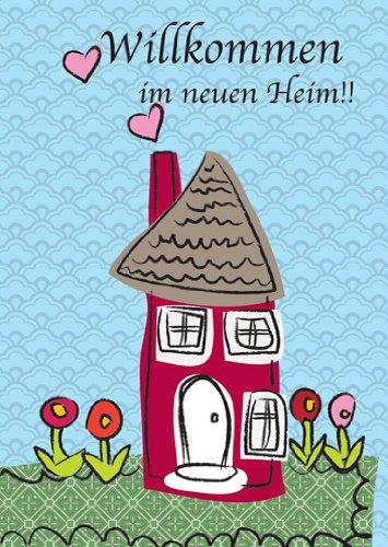 Kartenkaufrausch 5er Set illustrierte Glückwunschkarten zum Umzug/Einzug in's Neue Heim