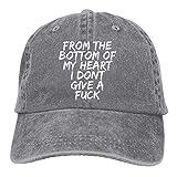 Zcfhike dal Fondo del Mio Cuore, Non Me ne Frega Un Cazzo. Cappello da Baseball per Adulti Cappello da Baseball Vintage Lavato con Effetto Anticato Design9