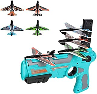 chillyday Remote Control Aircraft,2.4G RC Plane Quadcopter Glider Airplane Remote Control Aircraft Drone Gifts Raptor Model Toy Drone Remote Control Airplane Kids Toy Blue