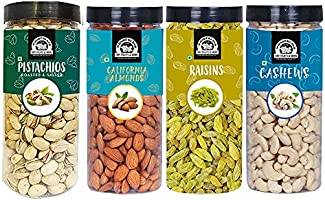 WONDERLAND FOODS (DEVICE) Premium Dry Fruits Healthy Nut Combo Pack of 4 (Almonds (NP), Cashew (W-320), Pistachio and...