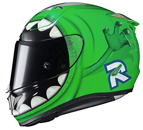 HJC Disney Pixar Unisex-Adult Full face Mike Wazowski Graphic Motorcycle Helmet (Green Multi, Medium)