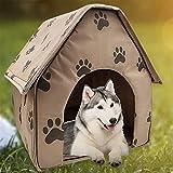 BaoYPP Caseta para Perros de Plástico Casa de Perro portátil Casa Plegable de Invierno cálida para Mascotas Tienda de Perros Puppy House Outdoor Portátil Casa de Perro Montaje Sencillo