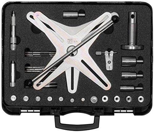 SW-staal 410110L SAC koppelingsgereedschapsset, voor het vakkundig uit- en inbouwen van zelfaansluitende koppelingen met 3-of 4-gats, 32-delig