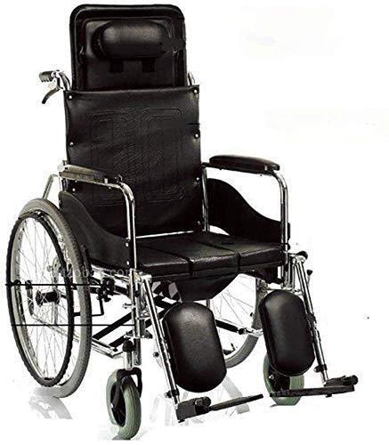 N/Z Einrichtungsgegenstände Rollstühle Full Reclining Toilettensitz Tisch Faltbares Licht Elderly Rollstuhl Home