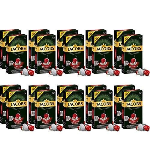 Jacobs Lungo Classico - Nespresso® * -kompatible Aluminium-Kaffeekapseln - 20 Packungen mit 10 Kapseln (200 Getränke)