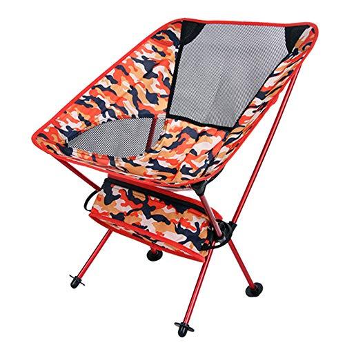 WJQ Camping Klappstuhl Angeln Bergsteigen Hocker Outdoor-Produkte, langlebig und sicher stabil und korrosionsbeständig bequem und einfach zu Falten und zu lagern