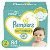 Diapers Size 2, 84 Count - Pampers Swaddlers Disposable Baby Diapers, Super Pack...