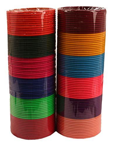 Touchstone Bangle Collection indischen Bollywood-Legierung Metall reichen 12 wunderschöne und Live-Armreifen Armbänder für Damen 2.37 Set von 144 Mehrfarbig