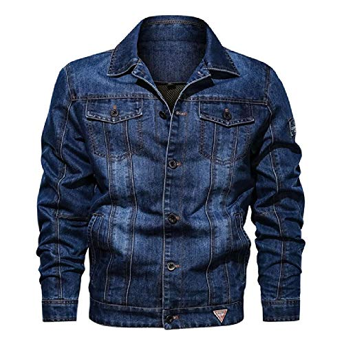 nobrand Herrenmäntel und Jacken Langarm-Kapuzenjacke mit Reißverschluss Outdoor-Jacke Jean-Jacke Herren-Jeansjacken Herrenmäntel Lässig