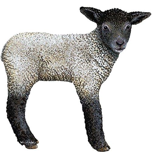 Walls of the Wild Sticker mural en forme d'agneau géant Idéal pour les chambres sur le thème de la ferme