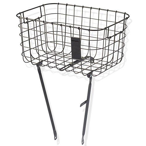 Basil Unisex– Erwachsene Robin Fahrradkorb, schwarz, 10 Kg
