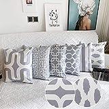 Comoco 6er Set Zuhause Kissen Leinen aus Baumwolle Neue Living-Serie dekorativ Dekokissenbezug...