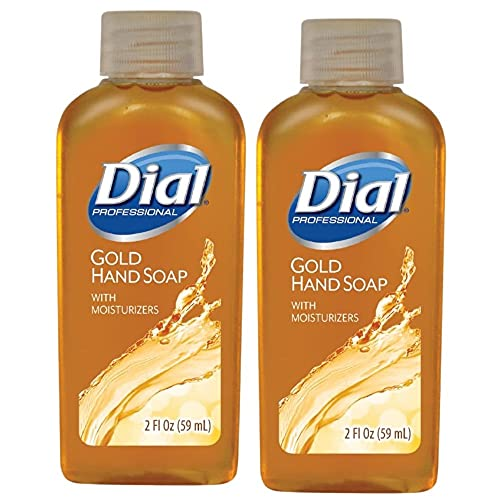 Gold Antimicrobial Liquid Hand Soap Soap | Antibacterial Hand Soap with Moisturizing | Protection Against Germs and Bacteria | (2 Fl OZ Pack of 2)