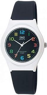 Q&Q Wrist Watch Plastic Band, Analogue, Black Color - VQ86J012Y