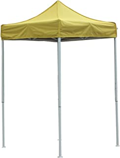 OTLIVE 5'x5' Canopy Tent Commercial Event Easy Up Pop Up Adjustable Portable Tent w/Carry Bag (Yellow))