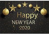新しい2020新年あけましておめでとうございます背景7x5ftポリエステル生地大晦日パーティーの写真の背景クリスマスの装飾新年祭祭典デジタル写真ブース小道具