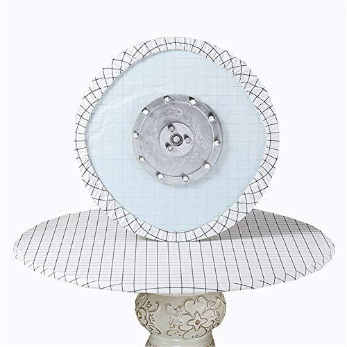 SYLC Mantel redondo impermeable, antideslizante, redondo para mesa circular, resistente al calor y fácil de limpiar (rejilla blanca, 180 cm)