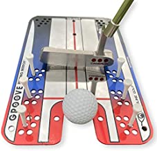 EyeLine Golf Groove Putting Mirror -Training Aid Align eyes, body, putter face. Indoor/Outdoor. 8 putting drills - alignment starting line impact stroke path head motion. Seen on PGA Tour. Made in USA