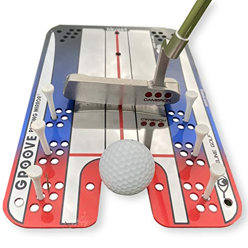 EyeLine Golf Groove Putting Mirror - Training Aid to Set up Your Body, Balls and Club in Perfect...