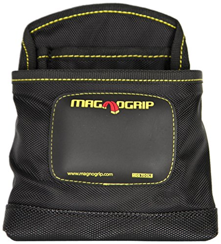 MagnoGrip 002-405 3-Pocket Magnetic Nail Pouch, Black