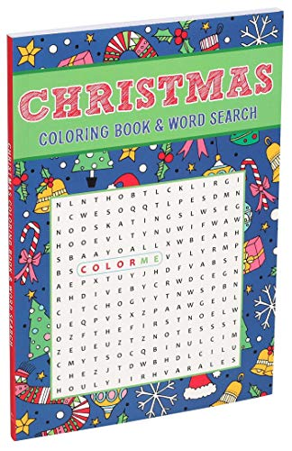 Christmas Coloring Book & Word Search