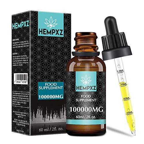 Hohe Qualität HANF ÖL 100000mg / 60ml, enthält Omega 6/9 Vitalkomplex, vegane und natürliche Inhaltsstoffe